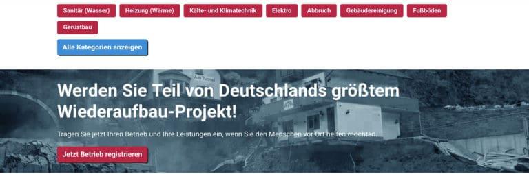 Read more about the article Handwerk baut auf: Bundesweite Vermittlungs-Seite für Handwerksleistungen in Flutgebieten